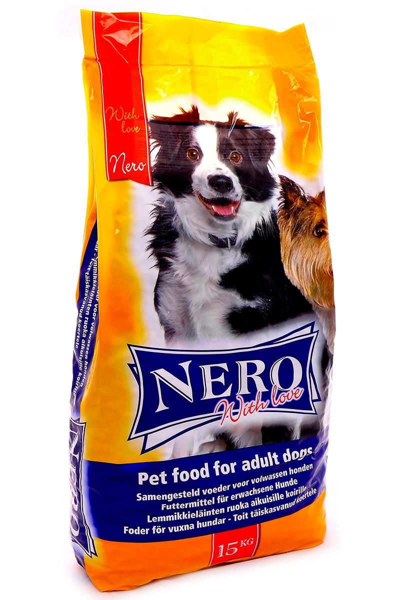 NERO GOLD super premium Для Собак: Мясной коктейль (Nero Economy with Love), 15 кг.10080Состав: злаки, мясо и субпродукты, растительные субпродукты, масла и жиры, минералы и витамины, дрожжи. Условия хранения: в прохладном темном месте.
