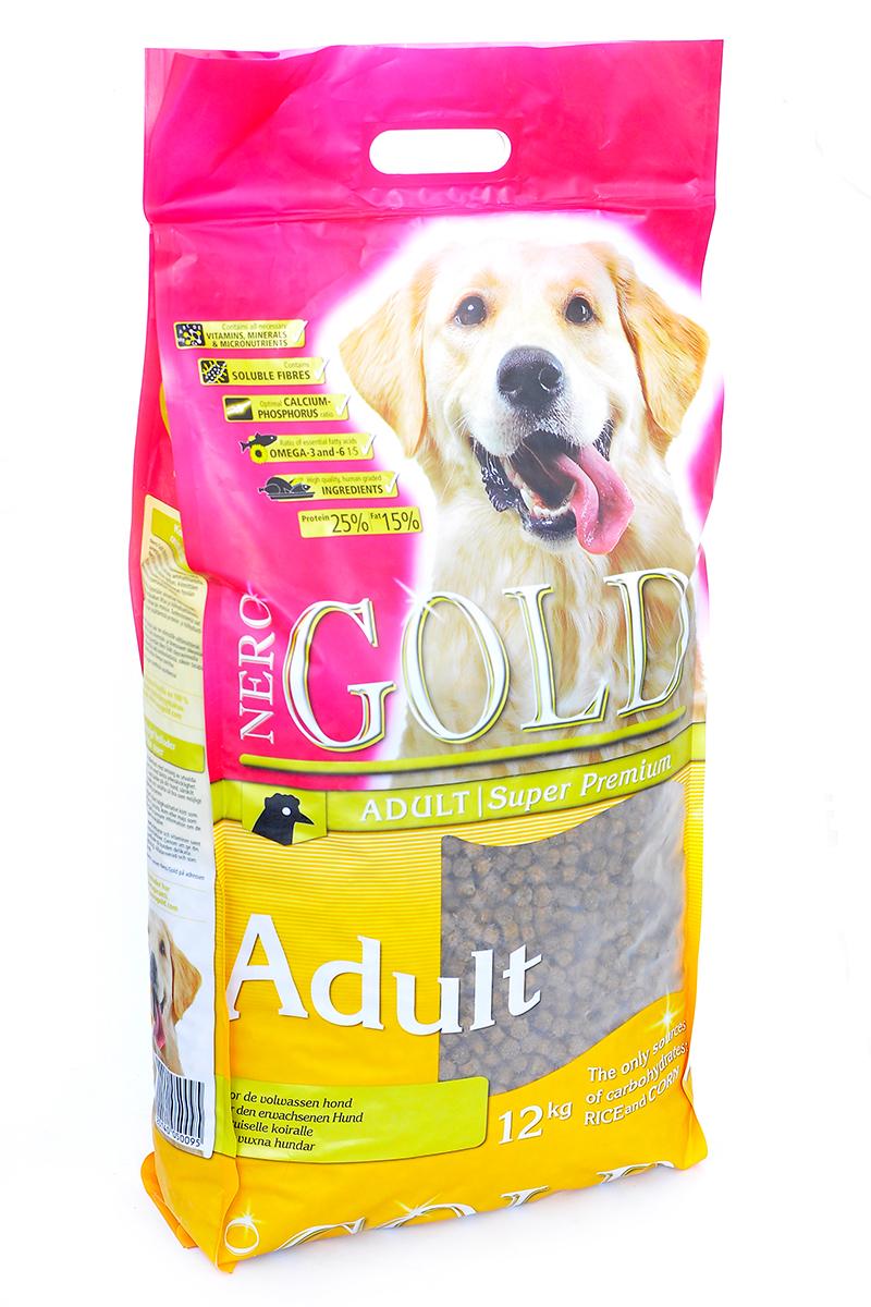 NERO GOLD super premium Для Взрослых собак: Курица и рис (Adult), 12 кг.10209Состав: дегидрированное куриное мясо, маис, рис, мякоть свеклы, дегидрированная рыба, кэроб, льняное семя, куриный жир, гидролизованная куриная печень, минералы и витамины, дрожжи и лецитин. Условия хранения: в прохладном темном месте.