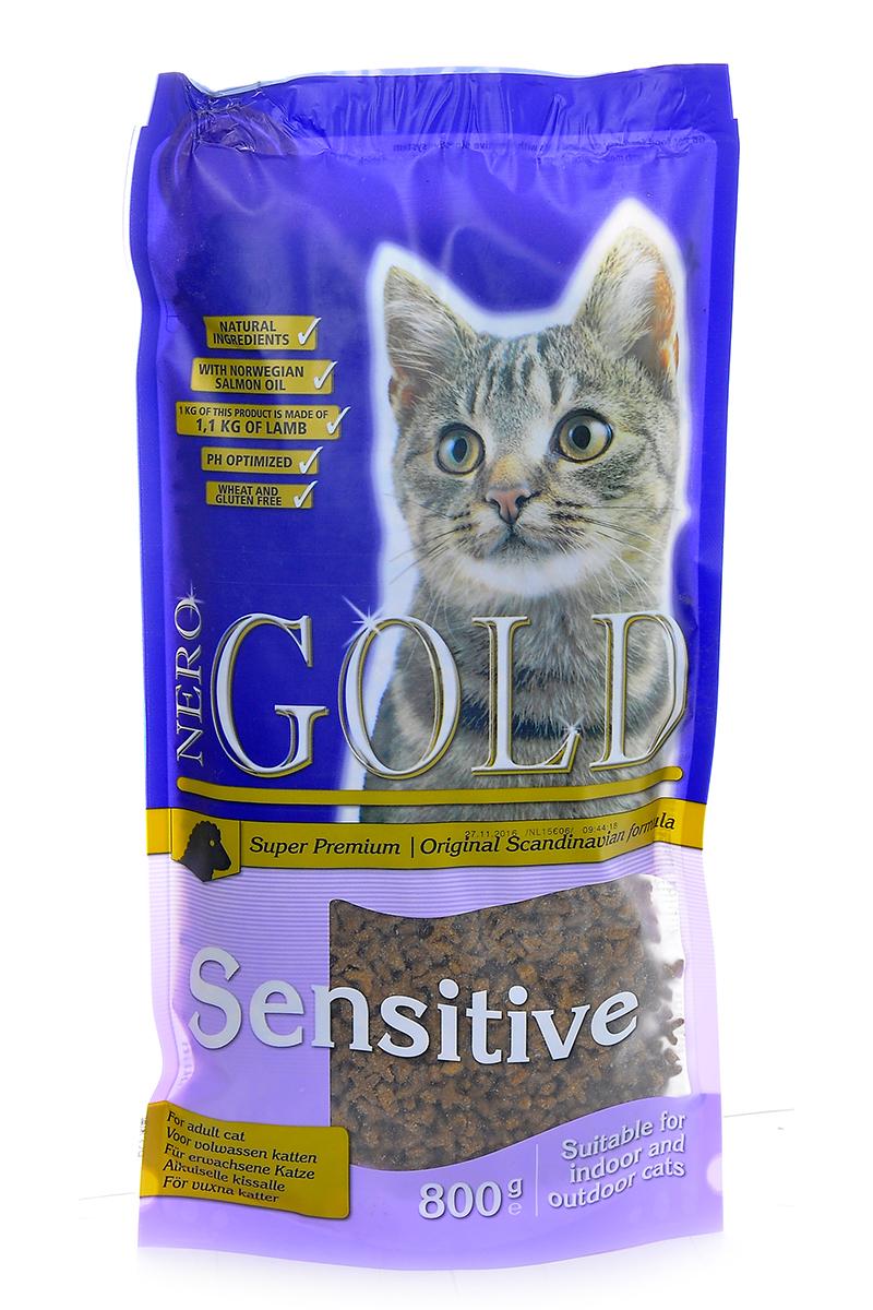 NERO GOLD super premium Для Кошек с чувствительным пищеварением: Ягненок (Cat Adult Sensitive), 800 г.20051Состав: дегидрированное мясо ягненка, кукурузный глютен, мука, рис, маис, куриный жир, гидролизованная куриная печень, дегидрированная рыба, клетчатка (мин. 5 %), мякоть свеклы, дрожжи, яичный порошок, минералы и витамины, гидролизованные хрящи (источник хондроитина), гидролизат ракообразных (источник глюкозамина), рыбий жир, инулин (мин. 0,5 % FOS), лецитин (мин. 0,5 %), холина хлорид, таурин. Условия хранения: в прохладном темном месте.