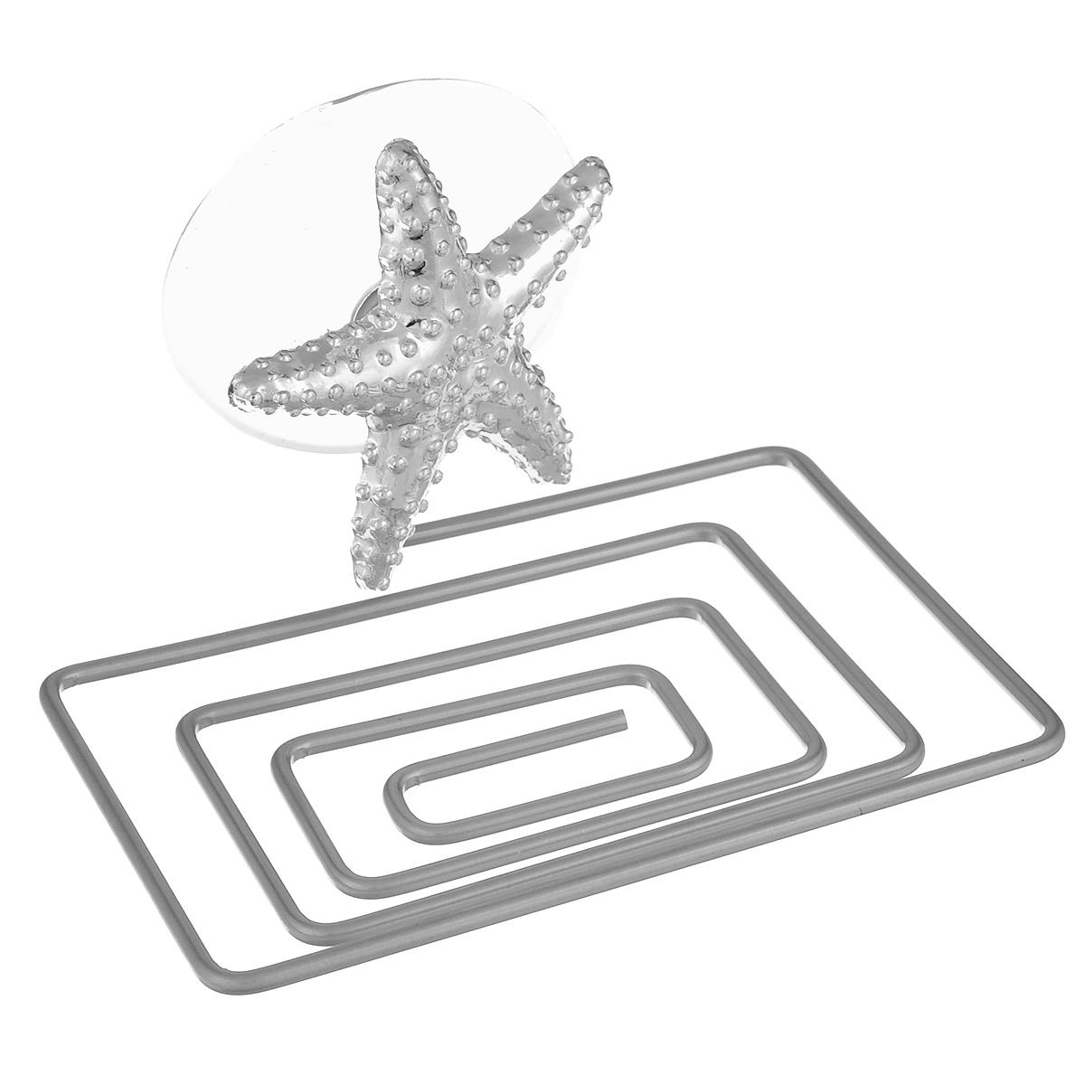 Мыльница Home Queen Морская звезда, 12 х 9 х 2 см56442_морская звездаМыльница Home Queen Морская звезда выполнена из хромированной стали и украшена пластиковой фигуркой. Крепится к стене при помощи присоски. Такая мыльница прекрасно подойдет для ванной комнаты или кухни.