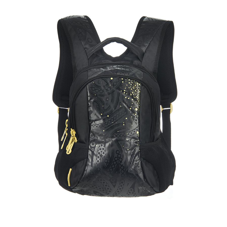 Рюкзак городской Grizzly, цвет: черный, желтый, 20 л. RS-430-3/3