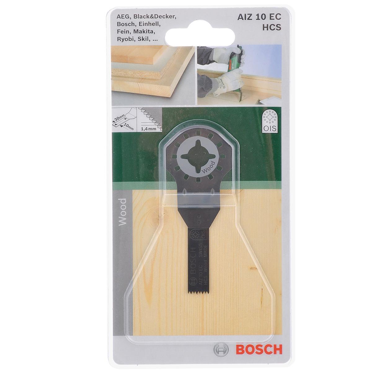 Пильное полотно по дереву Bosch HCS, для PMF 180, 30х10 мм2609256949Погружное пильное полотно Bosch изготовлено из высокоуглеродистой стали (HCS) и используется в многофункциональном инструменте PMF 180 (универсальный резак). С его помощью осуществляют рез заподлицо в труднодоступных местах в древесине. Применяют во время строительства, например, когда необходимо произвести монтаж вентиляционной решетки или вырезать проем в мебели. Шаг зубьев: 1,4 мм.