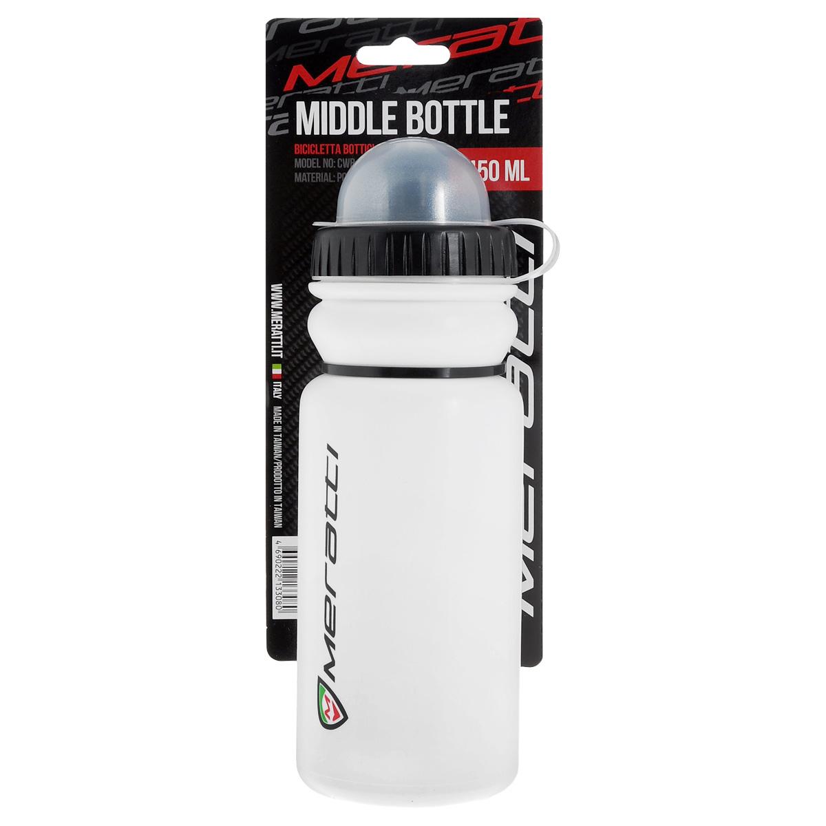 Велобутылка Meratti, 450 млCWB409KВелобутылка Meratti выполнена из нетоксичного пластика и представляет собой практичное решение для переноса воды или энергетических напитков во время длительных пробежек. Бутылка оснащена герметичным клапаном, не дающим воде пролиться. Крышка защищает клапан от пыли.