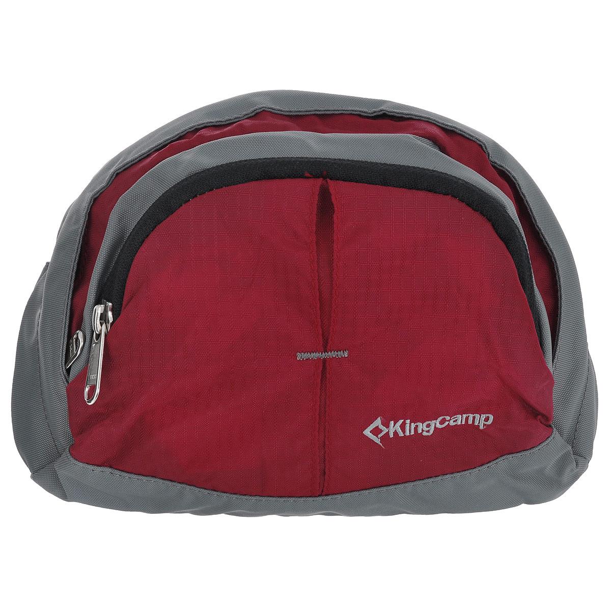 Сумка поясная KingCamp Firefly, цвет: красныйУТ-000059671Поясная сумка KingCamp Firefly изготовлена из нейлона и полиэстера. Сумка имеет 1 основное отделение с накладным карманом, которое закрывается на застежку молнию. На лицевой стороне расположен накладной карман на застежке-молнии с сетчатым карманом внутри. Такая сумка отлично подойдет любителям фитнеса и пробежек. В нее можно положить необходимые вещи, такие как плеер, ключи, телефон, не боясь, что они потеряются. Сумка крепится на пояс при помощи ремня с пластиковым карабином. Максимальная длина пояса: 95 см.