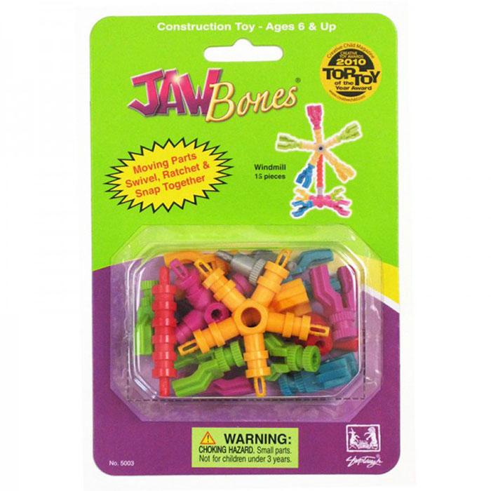 Jawbones Конструктор Мельница5003Новый развивающий конструктор Jawbones непременно понравится вашему ребенку! При помощи красочных деталей, с уникальным креплением, можно собрать мельницу в оригинальном и неповторимом стиле. Конструктор состоит из 15 элементов разного размера, цвета и назначения. Ваш ребенок с удовольствием будет играть с конструктором, придумывая различные истории.