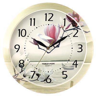 Часы настенные Troyka, цветные. 1100001611000016TROYKA 11000016 часы настенные (Лотос, круг, пластик, полноцветная печать на пластике) Материал: пластик; размер: диаметр 290 мм; цвет: цветные