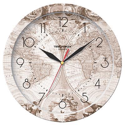 Часы настенные Troyka Атлас, цвет: бежевый11000017Настенные кварцевые часы Troyka Атлас в классическом стиле, изготовленные из пластика, прекрасно подойдут под интерьер вашего дома. Круглые часы имеют три стрелки: часовую, минутную и секундную, циферблат защищен прозрачным пластиком. Диаметр часов: 29 см. Часы работают от 1 батарейки типа АА напряжением 1,5 В. Внимание! Часы укомплектованы бесплатным тестовым элементом питания для обеспечения их работоспособности при предпродажной подготовке и демонстрации рабочих функций.
