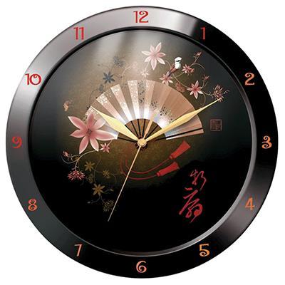 """Часы настенные Troyka """"Веер"""", цвет: черный"""