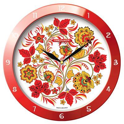 Часы настенные Troyka, цвет: красный, белый, желтый. 1113016711130167Настенные кварцевые часы Troyka в классическом стиле, изготовленные из пластика, прекрасно подойдут под интерьер вашего дома. Круглые часы имеют три стрелки: часовую, минутную и секундную, циферблат защищен прозрачным пластиком. Диаметр часов: 29 см. Часы работают от 1 батарейки типа АА напряжением 1,5 В. Внимание! Часы укомплектованы бесплатным тестовым элементом питания для обеспечения их работоспособности при предпродажной подготовке и демонстрации рабочих функций.