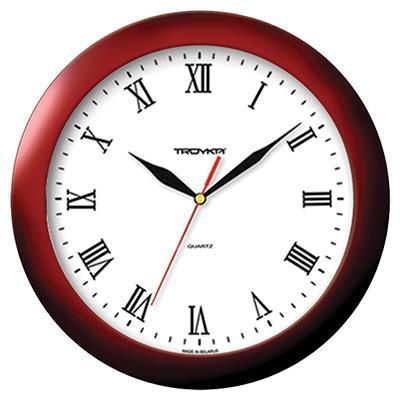 """Часы настенные """"Troyka"""", цвет: коричневый. 11131115"""