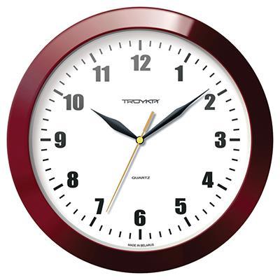 Часы настенные Troyka, цвет: коричневый, белый. 1113111711131117Настенные кварцевые часы Troyka в классическом стиле, изготовленные из пластика, прекрасно подойдут под интерьер вашего дома. Круглые часы имеют три стрелки: часовую, минутную и секундную, циферблат защищен прозрачным пластиком. Диаметр часов: 29 см. Часы работают от 1 батарейки типа АА напряжением 1,5 В. Внимание! Часы укомплектованы бесплатным тестовым элементом питания для обеспечения их работоспособности при предпродажной подготовке и демонстрации рабочих функций.