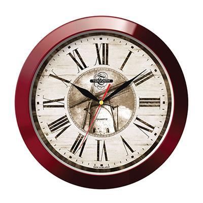 Часы настенные Troyka, цвет: коричневый. 1113114711131147Настенные кварцевые часы Troyka в винтажном стиле, изготовленные из пластика, прекрасно подойдут под интерьер вашего дома. Круглые часы имеют три стрелки: часовую, минутную и секундную, циферблат защищен прозрачным пластиком. Диаметр часов: 29 см. Часы работают от 1 батарейки типа АА напряжением 1,5 В. Внимание! Часы укомплектованы бесплатным тестовым элементом питания для обеспечения их работоспособности при предпродажной подготовке и демонстрации рабочих функций.