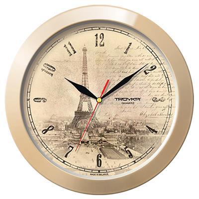Часы настенные Troyka, бежевый. 1113515211135152TROYKA 11135152 часы настенные (Париж) Материал: пластик; размер: диаметр 290 мм; цвет: бежевый