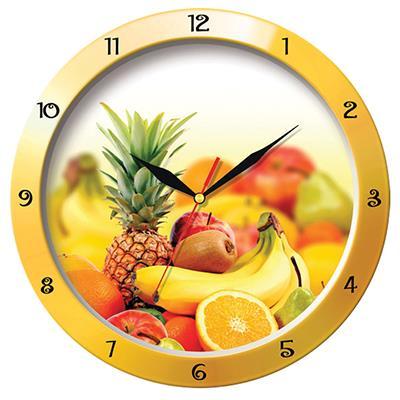 Часы настенные Troyka Фрукты, цвет: желтый, красный11150157Настенные кварцевые часы Troyka Фрукты в классическом стиле, изготовленные из пластика, прекрасно подойдут под интерьер вашего дома. Круглые часы имеют три стрелки: часовую, минутную и секундную, циферблат защищен прозрачным пластиком. Диаметр часов: 29 см. Часы работают от 1 батарейки типа АА напряжением 1,5 В. Внимание! Часы укомплектованы бесплатным тестовым элементом питания для обеспечения их работоспособности при предпродажной подготовке и демонстрации рабочих функций.