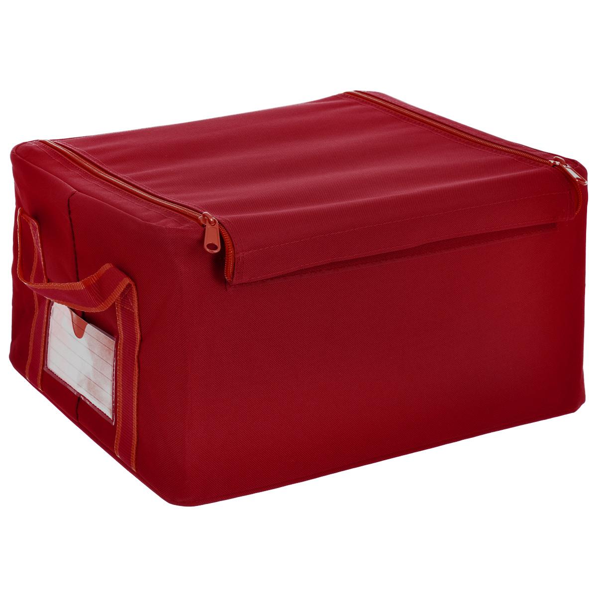 Коробка для хранения Reisenthel Storagebox, малая, цвет: красныйFR3004Универсальная коробка Reisenthel Storagebox из полиэстера пригодится для хранения сезонной одежды и обуви, аксессуаров, старых дневников и открыток, канцелярских принадлежностей и другой мелочи. Крышка закрывается на две змейки и липучку. Проволочный каркас и жесткое днище обеспечивают стабильность и устойчивость коробки. По бокам коробки две ручки для удобства переноски. Также можно подписать лейбл с указанием содержимого коробки. Объем коробки: 18 л. Максимальная нагрузка: 20 кг.