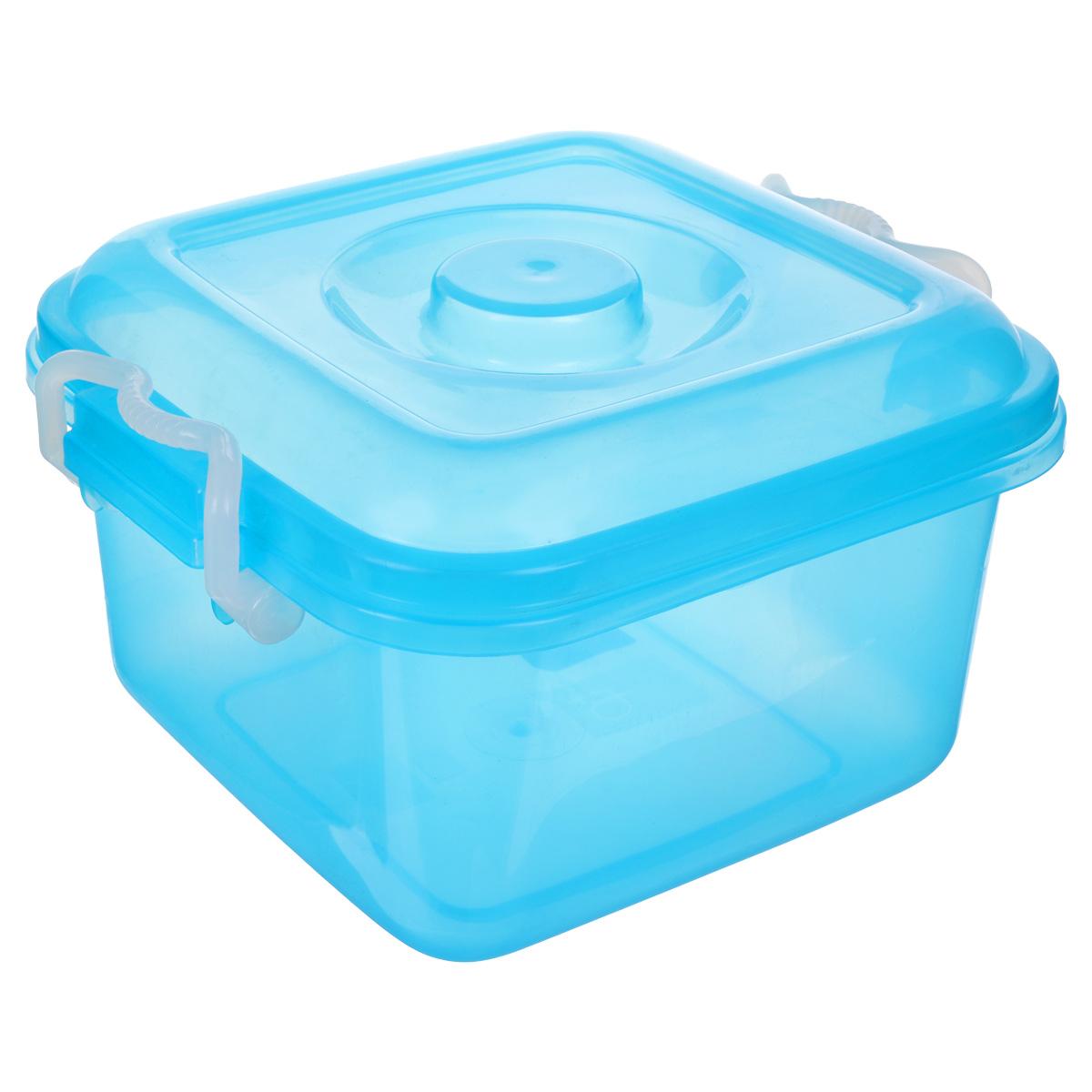 Контейнер для хранения Idea Океаник, цвет: голубой, 6 лМ 2855Контейнер Idea Океаник выполнен из полупрозрачного цветного пластика, предназначен для хранения различных вещей и мелких аксессуаров. Контейнер снабжен плотно закрывающейся крышкой со специальными боковыми фиксаторами. Объем контейнера: 6 л.