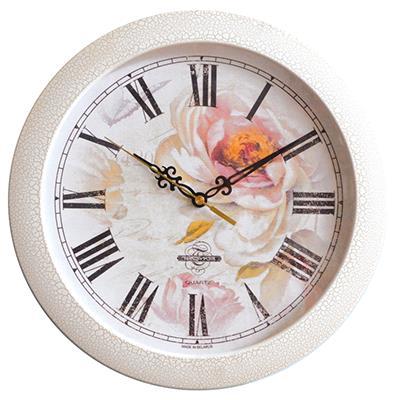 Часы настенные Troyka, цвет: белый. 1117310711173107Настенные кварцевые часы Troyka в винтажном стиле, изготовленные из пластика, прекрасно подойдут под интерьер вашего дома. Круглые часы имеют три стрелки: часовую, минутную и секундную, циферблат защищен прозрачным пластиком. Диаметр часов: 29 см. Часы работают от 1 батарейки типа АА напряжением 1,5 В. Внимание! Часы укомплектованы бесплатным тестовым элементом питания для обеспечения их работоспособности при предпродажной подготовке и демонстрации рабочих функций.