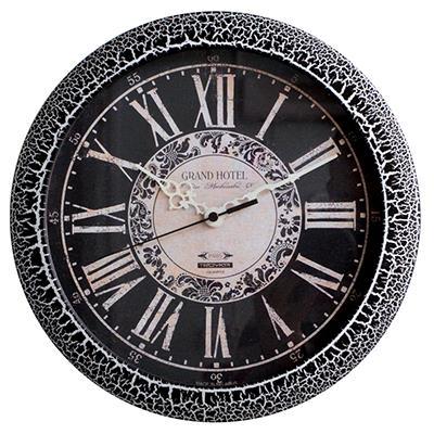 Часы настенные Troyka, цвет: черные. 1117410811174108Настенные кварцевые часы Troyka в винтажном стиле, изготовленные из пластика, прекрасно подойдут под интерьер вашего дома. Круглые часы имеют три стрелки: часовую, минутную и секундную, циферблат защищен прозрачным пластиком. Диаметр часов: 29 см. Часы работают от 1 батарейки типа АА напряжением 1,5 В. Внимание! Часы укомплектованы бесплатным тестовым элементом питания для обеспечения их работоспособности при предпродажной подготовке и демонстрации рабочих функций.