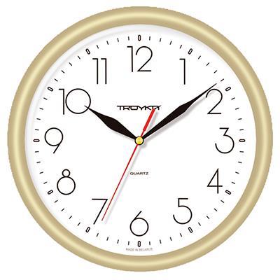 """Часы настенные """"Troyka"""", цвет: золотой. 21271212"""