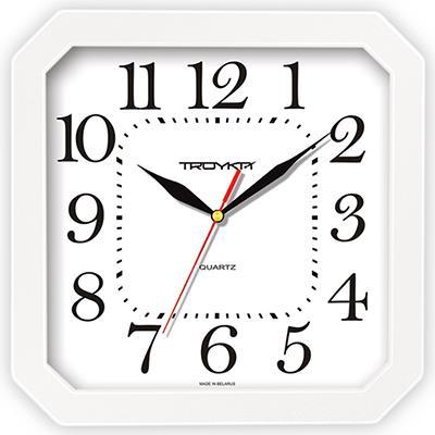 Часы настенные Troyka, цвет: белый. 3131031631310316Настенные кварцевые часы Troyka, выполненные в классическом стиле, изготовленные из пластика, прекрасно подойдут под интерьер вашего дома. Квадратные часы имеют три стрелки: часовую, минутную и секундную, циферблат защищен прозрачным пластиком. Размер часов: 29 см х 29 см х 3,5 см. Часы работают от 1 батарейки типа АА напряжением 1,5 В. Внимание! Часы укомплектованы бесплатным тестовым элементом питания для обеспечения их работоспособности при предпродажной подготовке и демонстрации рабочих функций.