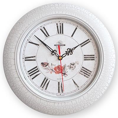 Часы настенные Troyka, цвет: белый. 7177224671772246Настенные кварцевые часы Troyka в винтажном стиле, изготовленные из пластика, прекрасно подойдут под интерьер вашего дома. Круглые часы имеют три стрелки: часовую, минутную и секундную, циферблат защищен прозрачным пластиком. Диаметр часов: 30 см. Часы работают от 1 батарейки типа АА напряжением 1,5 В. Внимание! Часы укомплектованы бесплатным тестовым элементом питания для обеспечения их работоспособности при предпродажной подготовке и демонстрации рабочих функций.