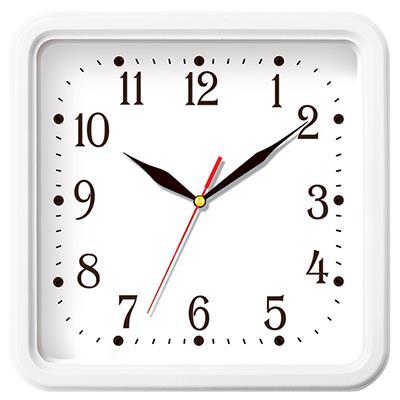 Часы настенные Troyka, цвет: белый. 8181083581810835Настенные кварцевые часы Troyka в классическом стиле, изготовленные из пластика, прекрасно подойдут под интерьер вашего дома. Квадратные часы имеют три стрелки: часовую, минутную и секундную, циферблат защищен прозрачным пластиком. Размер часов: 25 см х 25 см х 3,5 см. Часы работают от 1 батарейки типа АА напряжением 1,5 В. Внимание! Часы укомплектованы бесплатным тестовым элементом питания для обеспечения их работоспособности при предпродажной подготовке и демонстрации рабочих функций.