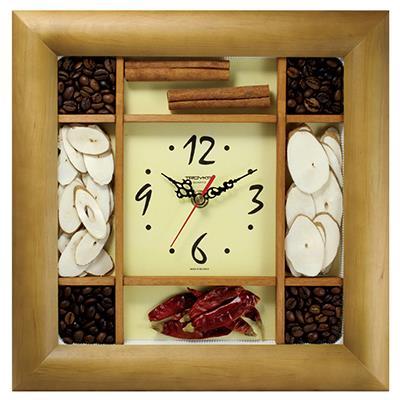 Часы настенные Troyka, цвет: коричневый. 8186182881861828Настенные кварцевые часы Troyka, изготовленные из светлого дерева и пластика, прекрасно подойдут под интерьер вашего дома. Квадратные часы имеют три стрелки: часовую, минутную и секундную, циферблат защищен прозрачным пластиком. Циферблат обрамлен рамкой с ячейками, наполненными фасолью, горохом, специями и кофейными зернами. Размер часов: 26 см х 26 см х 3,5 см. Часы работают от 1 батарейки типа АА напряжением 1,5 В. Внимание! Часы укомплектованы бесплатным тестовым элементом питания для обеспечения их работоспособности при предпродажной подготовке и демонстрации рабочих функций.