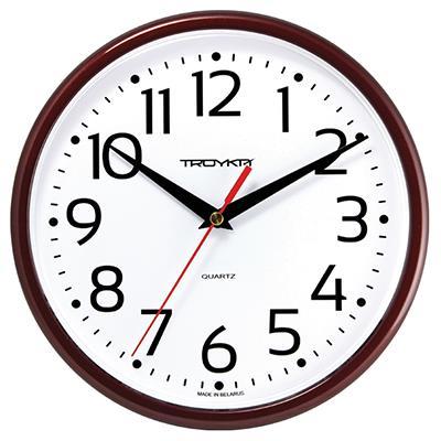 Часы настенные Troyka, коричневые. 91931912
