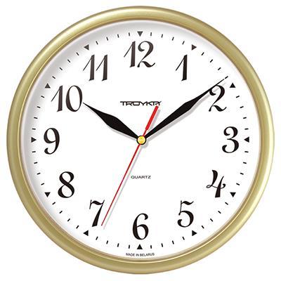 Часы настенные Troyka, цвет: бежевый. 9197191391971913Настенные кварцевые часы Troyka в классическом стиле, изготовленные из пластика, прекрасно подойдут под интерьер вашего дома. Круглые часы имеют три стрелки: часовую, минутную и секундную, циферблат защищен прозрачным пластиком. Диаметр часов: 22,5 см. Часы работают от 1 батарейки типа АА напряжением 1,5 В. Внимание! Часы укомплектованы бесплатным тестовым элементом питания для обеспечения их работоспособности при предпродажной подготовке и демонстрации рабочих функций.