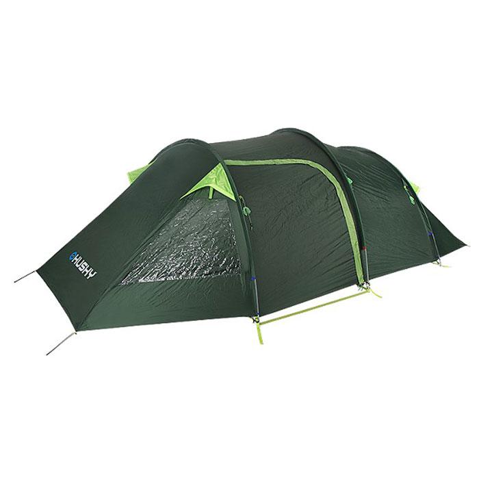 Палатка туристическая Husky Bromer 4, цвет: зеленыйУТ-000056621Туристическая палатка Husky Bromer 4 предназначена для размещения 4 людей. Палатка тоннельного типа, возможна установка тента без спальной комнаты. Войти в палатку можно через один из двух входов. Вход в спальню оснащен противомоскитной сеткой. Наружный тент и пол палатки - водостойкие, швы проварены специальной лентой. Палатка Husky Bromer 4 прекрасно подойдет для любителей активного отдыха! Особенно ее оценят велосипедисты, туристы, рыбаки. Максимальный вес палатки: 7,3 кг.