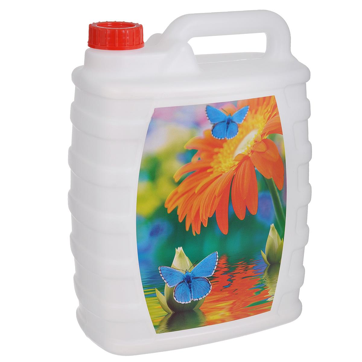 Канистра Альтернатива Цветок и бабочки, 10 лМ2391_цветок и бабочкиКанистра Альтернатива Цветок и бабочки на 10 литров, изготовленная из прочного пластика, несомненно, пригодится вам во время путешествия. Предназначена для переноски и хранения различных жидкостей. Канистра декорирована ярким принтом.