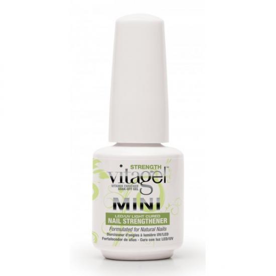 VitaGel Strenght Средство для защиты натуральных ногтей, 9 мл04031Используется как укрепляющее средство для натуральных ногтей. Подходит клиентам с ослабленнми ногтями, нуждающимися в дополнительном питании и укреплении. После 3-4 раз использования VitaGel ПРОЧНОСТЬ состояние натуральных ногтей заметно улучшается, они становятся ощутимо крепче. Стимулирует быстрый рост ногтей, при этом позволяет удерживать молекулы витаминов А, Е и В5 на срок до 14 дней для непрерывного высвобождения питательных веществ в ногтевую пластину.