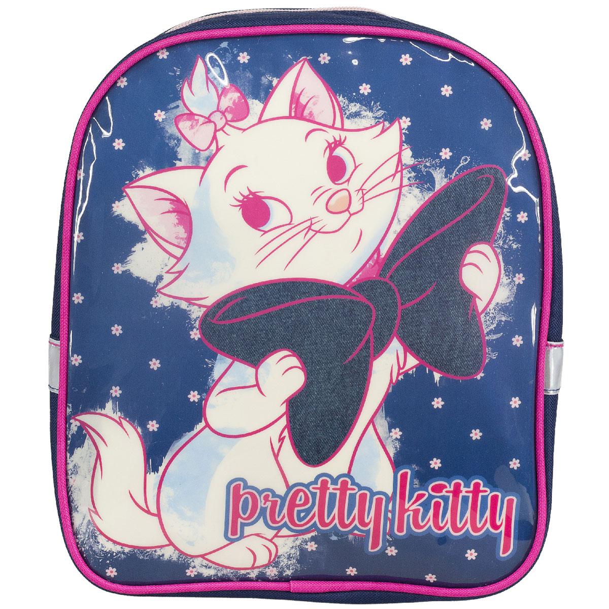 Рюкзак детский Marie Cat, цвет: темно-синий, розовый. MCCB-UT1-511MCCB-UT1-511Детский рюкзак Marie Cat - это незаменимая вещь для прогулок и повседневных дел, в нем можно разместить самые важные вещи. Пусть у вашего ребенка тоже будет свой собственный рюкзак. Выполнен из прочных и безопасных материалов. Передняя панель украшена ярким изображением милой кошечки с бантиком. У модели одно вместительное отделение на застежке-молнии. Широкие лямки можно свободно регулировать по длине в зависимости от роста ребенка. Рюкзак оснащен текстильной ручкой для переноски в руке. Светоотражающие элементы обеспечивают безопасность в темное время суток Рекомендуемый возраст: от 7 лет.