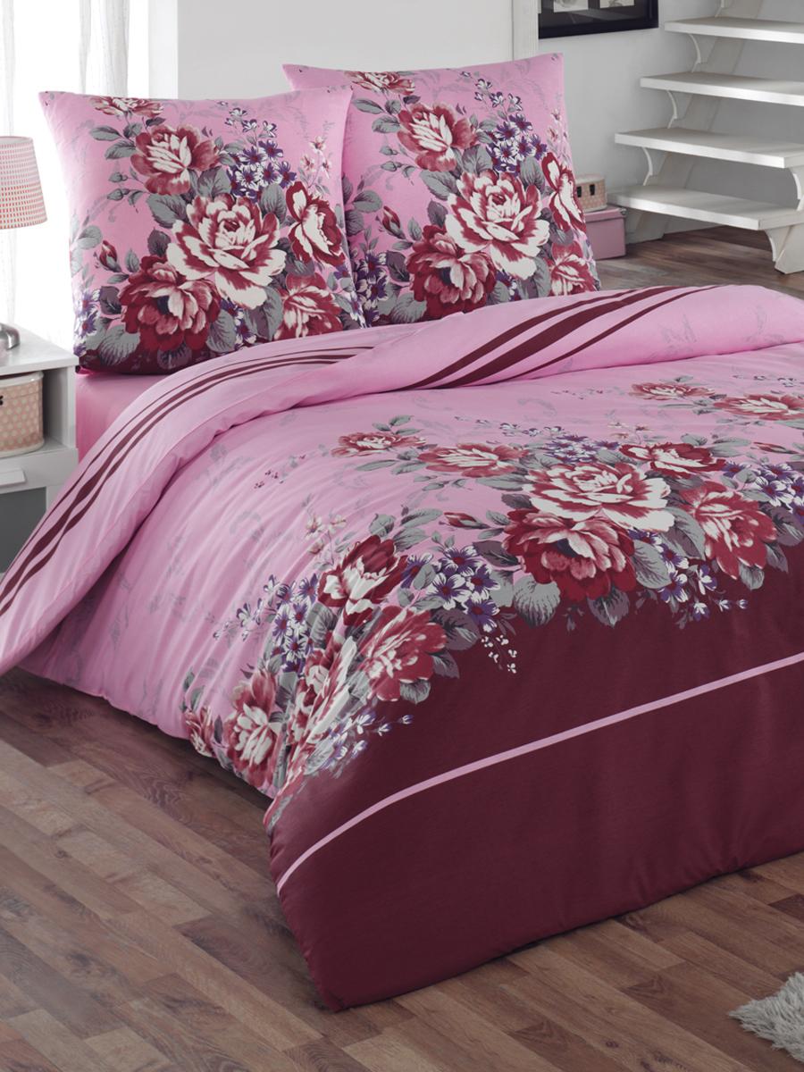 Комплект белья Tete-a-tete Classic Шармэль, евро, наволочки 70х70, цвет: бордовый, розовый, фиолетовыйК-8071Комплект постельного белья Tete-a-Tete Classic Шармэль является экологически безопасным для всей семьи, так как выполнен из бязи (100% натурального хлопка). Комплект состоит из пододеяльника, простыни и двух наволочек. Постельное белье, оформленное ярким цветочным принтом, послужит прекрасным дополнением к интерьеру вашей спальной комнаты. Гладкая структура делает ткань приятной на ощупь, мягкой и нежной, при этом она прочная и хорошо сохраняет форму. Ткань легко гладится, не линяет и не садится. Комплект постельного белья Tete-a-Tete Classic Шармэль станет отличным дополнением вашего интерьера и подарит гармоничный сон.