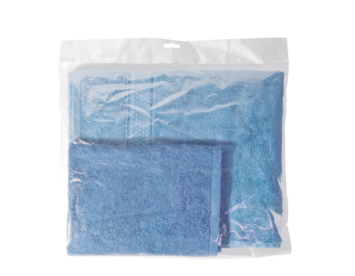 Набор махровых полотенец Aisha Home Textile, цвет: голубой, 2 штУзТ-КМП-09-06Набор Aisha Home Textile состоит из двух махровых полотенец разного размера, выполненных из натурального 100% хлопка. Изделия отлично впитывают влагу, быстро сохнут, сохраняют яркость цвета и не теряют формы даже после многократных стирок. Полотенца очень практичны и неприхотливы в уходе. Комплектация: 2 шт.