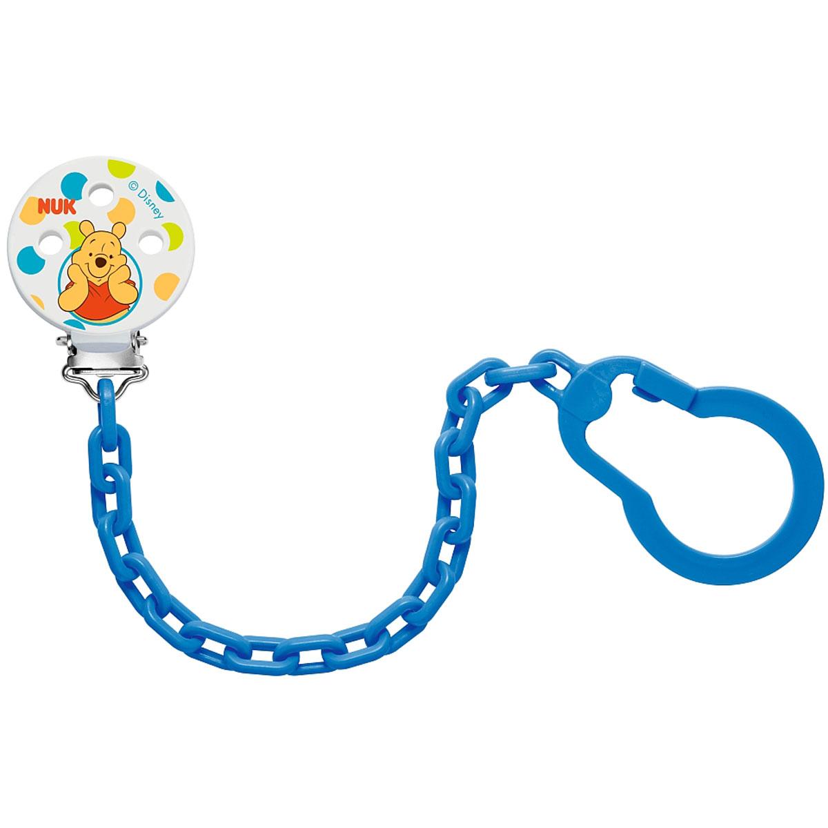 Клипса-держатель для пустышки NUK Disney, цвет: синий