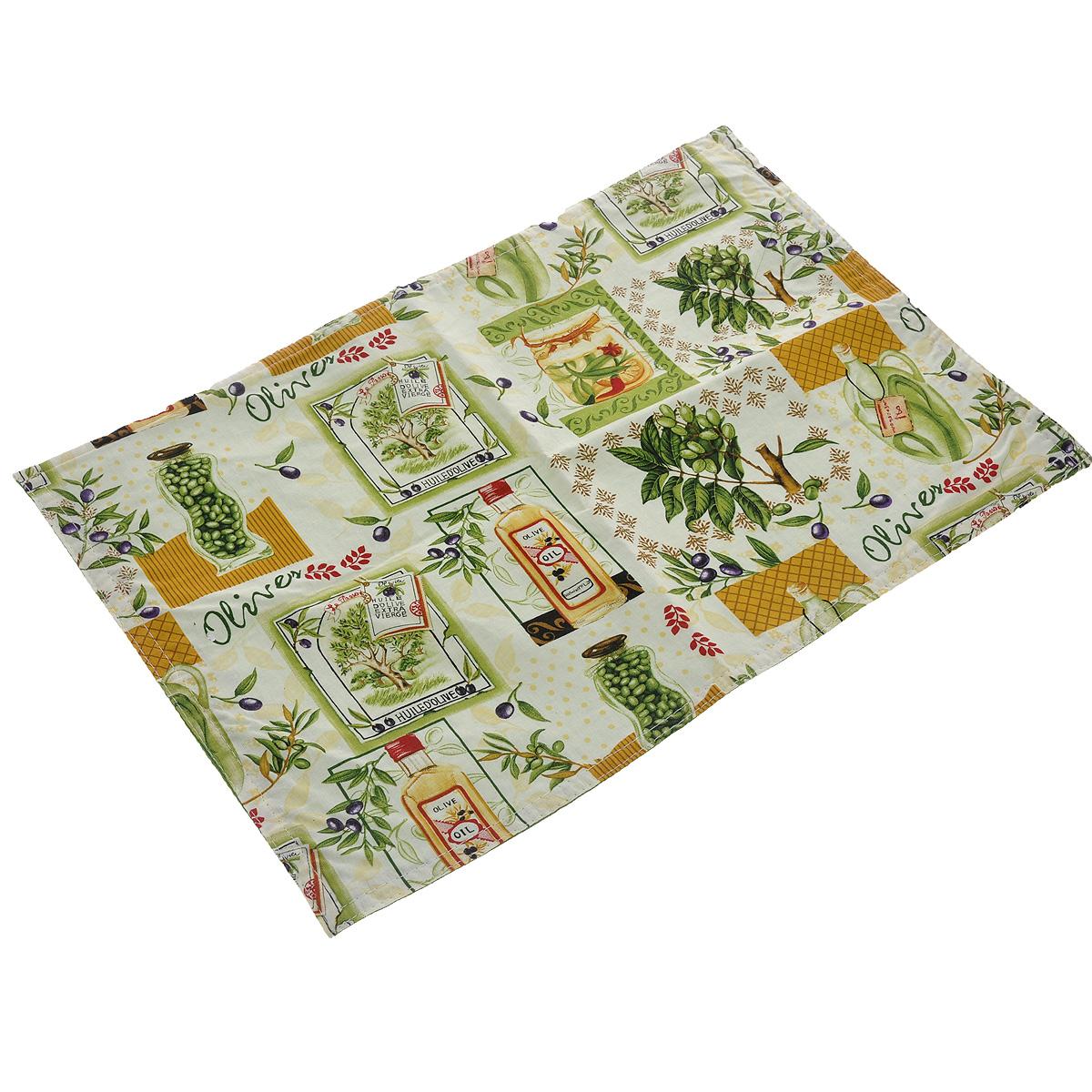 Салфетка LaSella, цвет: зеленый, желтый, белый, 45 х 30 см PM034B18PM034B18(F9697)Прямоугольная салфетка LaSella выполнена из высококачественного хлопка и украшена рисунком. Салфетка может использоваться для декорирования стола, комода, журнального столика. В любом случае она добавит в ваш дом стиля, изысканности и неповторимости и убережет мебель от царапин и потертостей.