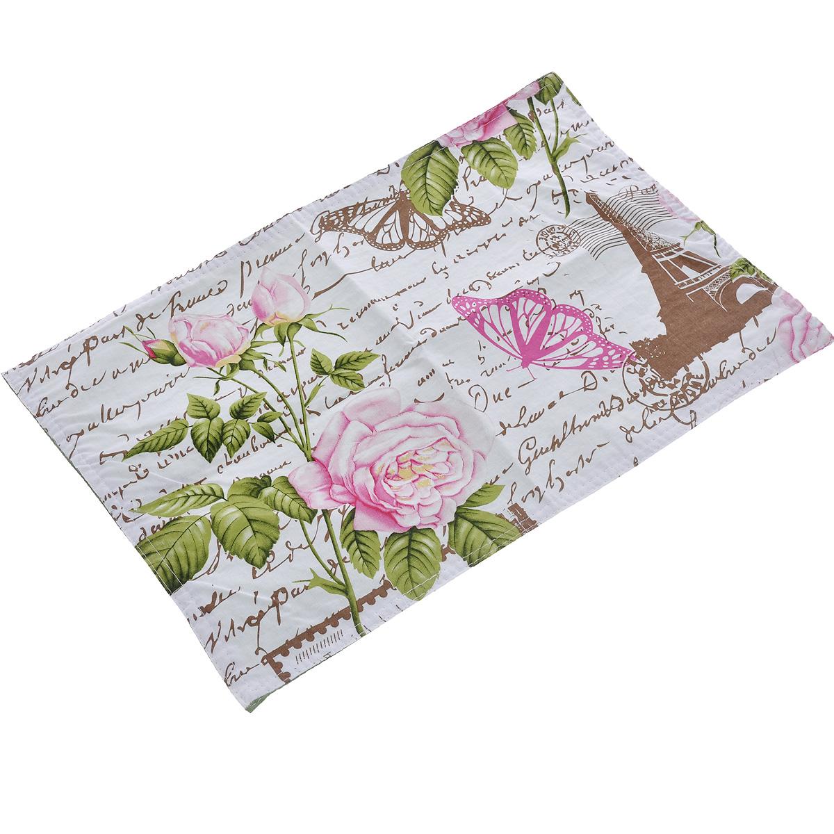 Салфетка LaSella, цвет: белый, зеленый, розовый, 45 см х 30 см. PM034B18PM034B18(F9559)Прямоугольная салфетка LaSella выполнена из высококачественного хлопка и украшена рисунком. Салфетка может использоваться для декорирования стола, комода, журнального столика. В любом случае она добавит в ваш дом стиля, изысканности и неповторимости и убережет мебель от царапин и потертостей.