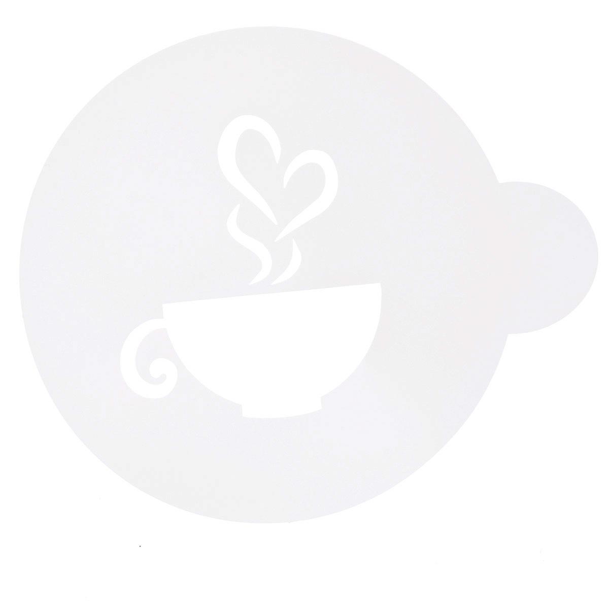 Трафарет на кофе и десерты Леденцовая фабрика