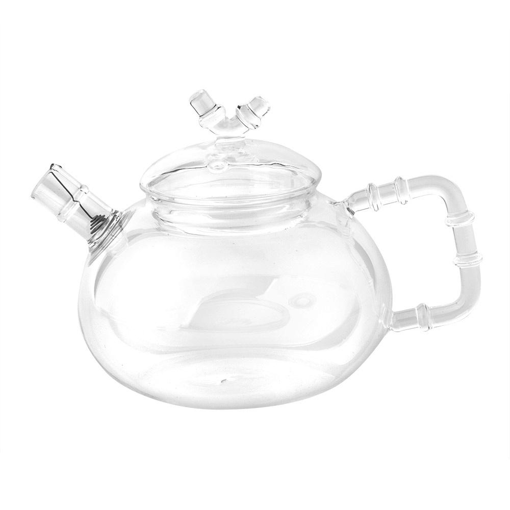 Чайник заварочный Xinya Бамбук, с фильтр-пружинкой, 500 мл02356Элегантный чайник Xinya Бамбук, изготовленный из высококачественного стекла, порадует своей оригинальной формой. Удобная ручка в форме ствола бамбука позволяет крепко держать чайник в руке. Крышка уберегает от ожогов, а оригинальное сито, зафиксированное на носике чайника, прекрасно фильтрует чайный настой. Изделие предназначено для подачи как горячих, так и холодных напитков. Заварочный чайник Xinya Бамбук станет великолепным подарком для любителей чая. Диаметр чайника (по верхнему краю): 6,5 см. Высота чайника (без учета крышки): 8 см.