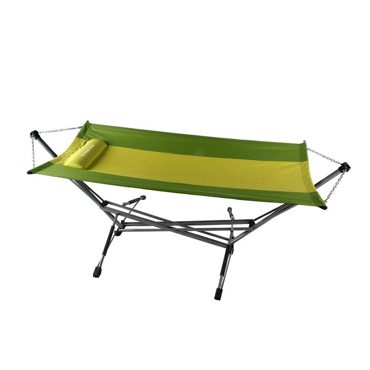 Гамак складной KingCamp, с подушкой, цвет: зеленый
