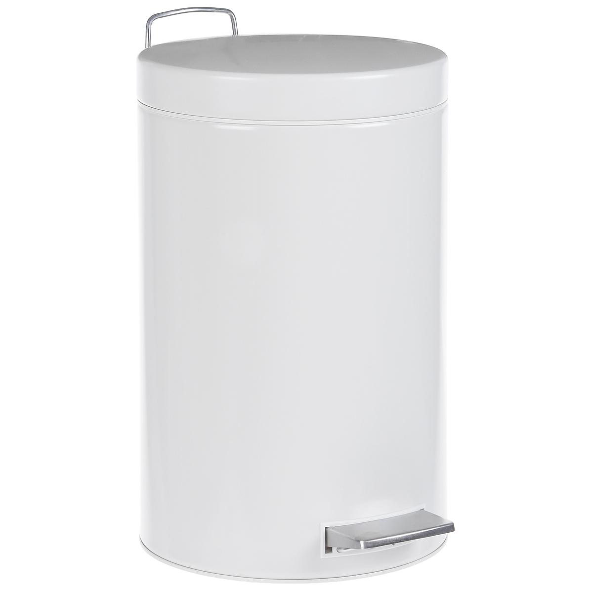 Ведро для мусора Brabantia, с педалью, цвет: белый, 12 л. 214660214660Ведро для мусора Brabantia, выполненное из стали, обеспечит долгий срок службы и легкую чистку. Ведро оснащено педалью из нержавеющей стали, с помощью которой можно открывать крышку. Пластиковая основа ведра предотвращает повреждение пола. Резиновые ножки препятствуют скольжению. Внутренняя часть - пластиковое ведерко с металлической ручкой, которое легко можно вынуть. В комплект входят пакеты для ведра. Ведро Brabantia поможет вам держать мусор в порядке и предотвратит распространение неприятного запаха. Диаметр ведра: 24 см. Высота ведра: 39,5 см. Объем: 12 л.
