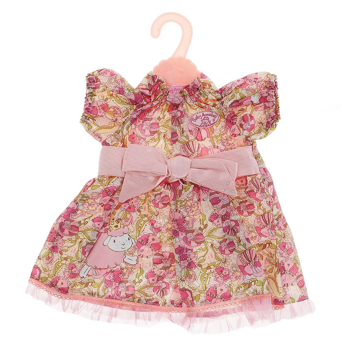 Baby Annabell Одежда для куклы «Платье», цвет: красный, розовый, зеленый