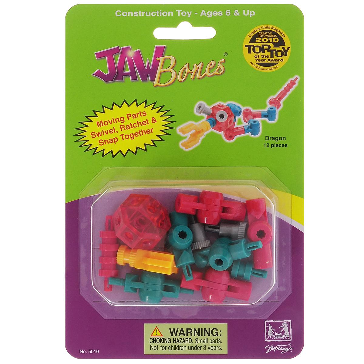 Jawbones Конструктор Дракон5010Новый развивающий конструктор Jawbones непременно понравится вашему ребенку! При помощи красочных деталей, с уникальным креплением, можно собрать дракона в оригинальном и неповторимом стиле. Конструктор состоит из 12 элементов различные истории.