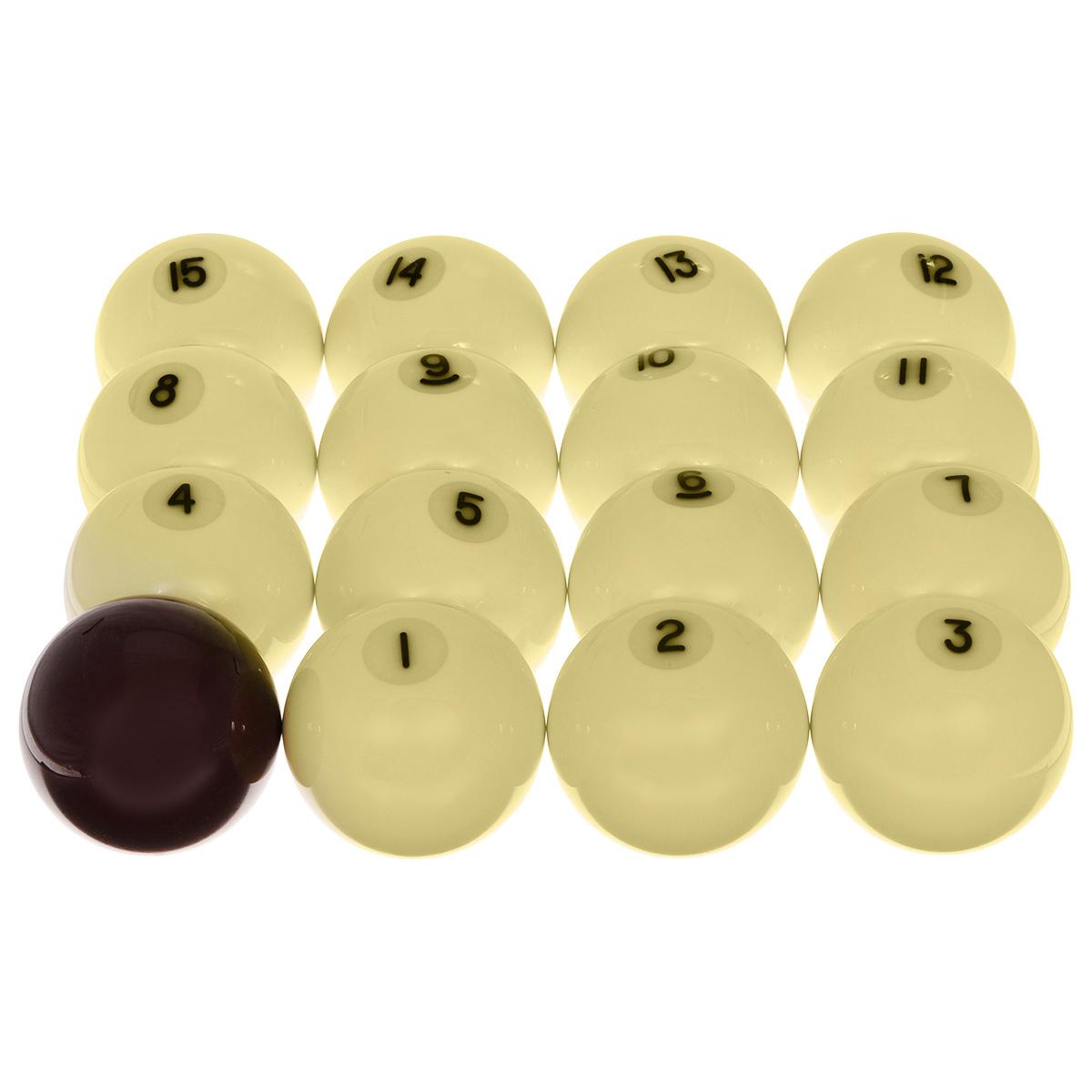 Шары бильярдные Aramith Premier Pyramid, бордовый биток, 60,3 мм00006Premier Pyramid 60,3 мм - вариант высококачественных шаров Aramith для русской пирамиды уменьшенного диаметра, для использования на домашних и клубных бильярдных столах малого формата (длиной стола обычно не более 9 ft). Гарантированные без полиэстера, настоящие феноло-альдегидные шары обладают всеми свойствами, которые ожидает требовательный игрок. Постоянная плотность и равновесие обеспечивают четкий контроль скорости, вращения и точность отскока шара. Специально разработанная технология придает утонченный металлический оттенок и новый новаторский взгляд этим изящным шарам. Описание комплекта: Шаров в комплекте: 16. Вид бильярда: русская пирамида. Цвет битка: бордовый.
