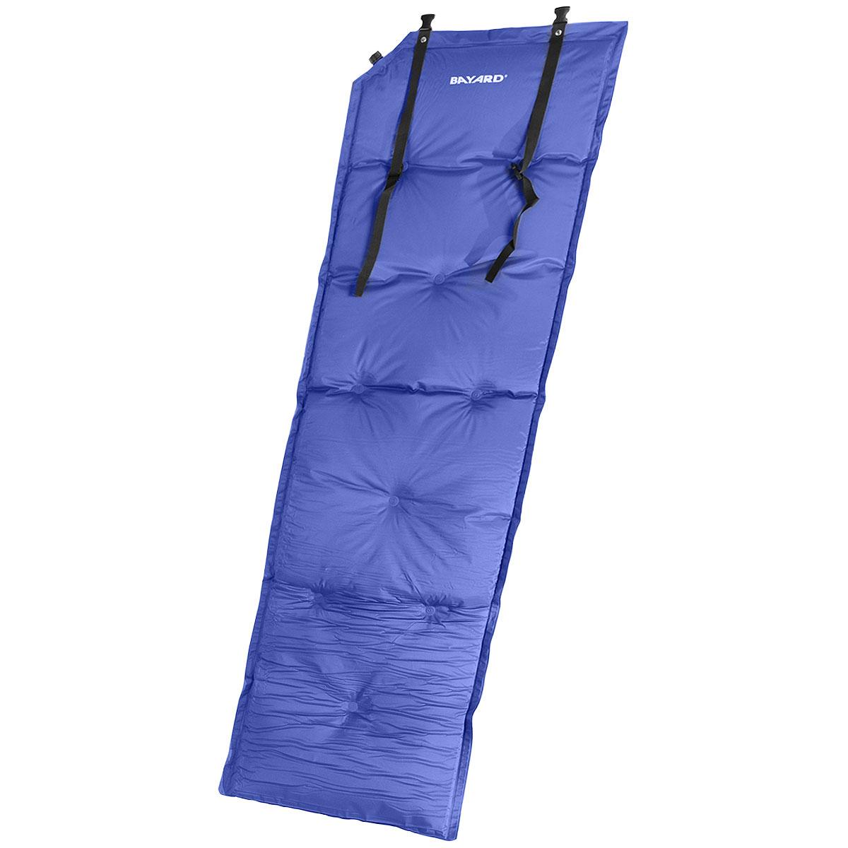 Коврик самонадувающийся Bayard Magic Air 25, цвет: синий, 188 см х 55 см х 2,5 см015321Самонадувающийся туристический коврик Bayard Magic Air 25 предназначен для теплоизоляции, например, между почвой и телом лежащего человека, а также для предохранения спального мешка от повреждений и влаги. Надувная подушка увеличит комфорт при длительном отдыхе. Очень простой в использовании, легко и быстро надувается, компактный и легкий. Имеется специально разработанный мощный клапан с высокой пропускной способностью, что позволяет коврику быстро наполняться воздухом или сдуваться. Для того, чтобы надуть коврик, просто откройте клапан, через пару минут коврик расправится и закройте клапан. Коврик готов к использованию! Он не даст вам замерзнуть и сделает отдых более комфортным даже на корнях или на камнях. Изделие отличается прочностью и износостойкостью. В комплекте есть мешок-чехол для переноски и хранения.
