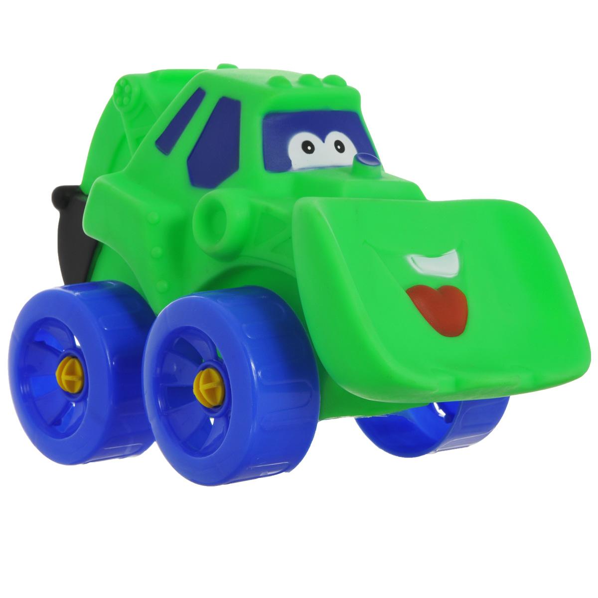 Erpa Бульдозер Tombis цвет зеленый синий660931_зеленый, синийЯркая машинка-бульдозер Erpa Tombis понравится вашему малышу. Машинка выполнена из высококачественного мягкого пластика. Большие колеса со свободным ходом обеспечивают хорошую проходимость. Такая игрушка способствует развитию у малыша тактильных ощущений, мелкой моторики рук и координации движений.