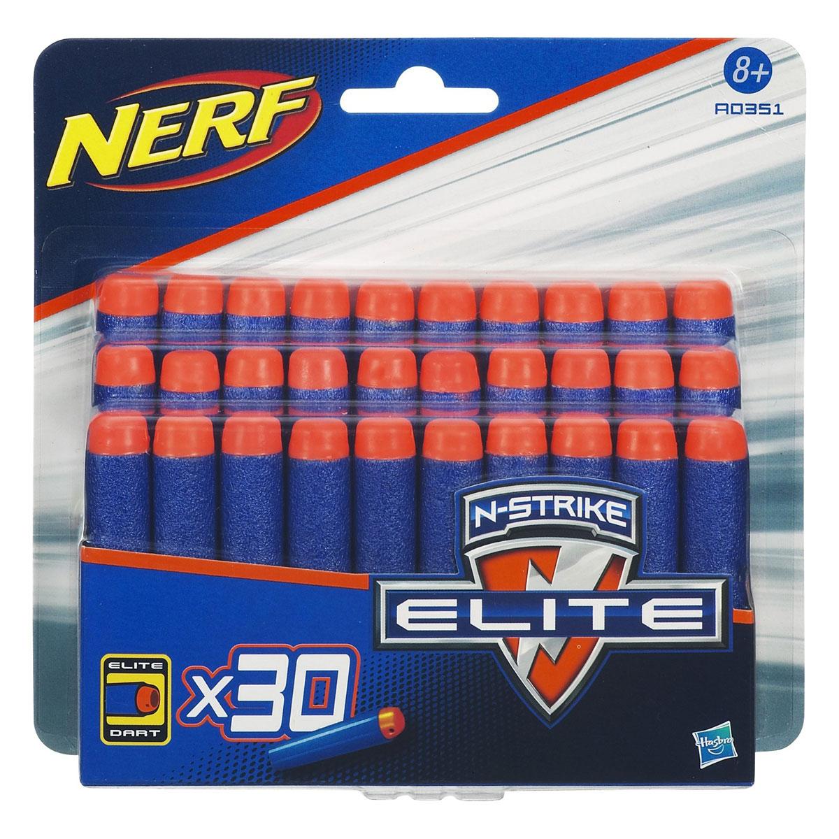 Набор стрел Nerf для бластеров Elite, 30 штA0351E35Запасные стрелы Nerf подходят для всех бластеров линейки N-Strike Elite. Они выполнены из гибкого вспененного полимера. В комплекте 30 стрел. Игры с бластером помогут ребенку в развитии меткости, ловкости, координации движений и сноровки.