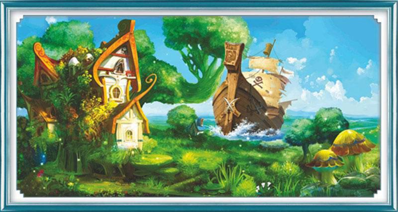 Набор для изготовления картины со стразами Cristal Сказка, 80 см х 40 см7711569Набор для изготовления картины со стразами Cristal Сказка поможет вам создать свой личный шедевр. Работа, выполненная своими руками, станет отличным подарком для друзей и близких! Набор содержит: - полотно-схема с нанесенным рисунком и клеевым слоем (90 см х 50 см), - пластиковое блюдце; - стразы (23 цвета); - карандаш; - точилка; - две ватные палочки; - маленькие пакетики; - 2 скрепки; - пинцет; - инструкция на русском языке. Подарите близким тепло ваших рук! УВАЖАЕМЫЕ КЛИЕНТЫ! Обращаем ваше внимание, на тот факт, что рамка в комплект не входит, а служит для визуального восприятия товара.