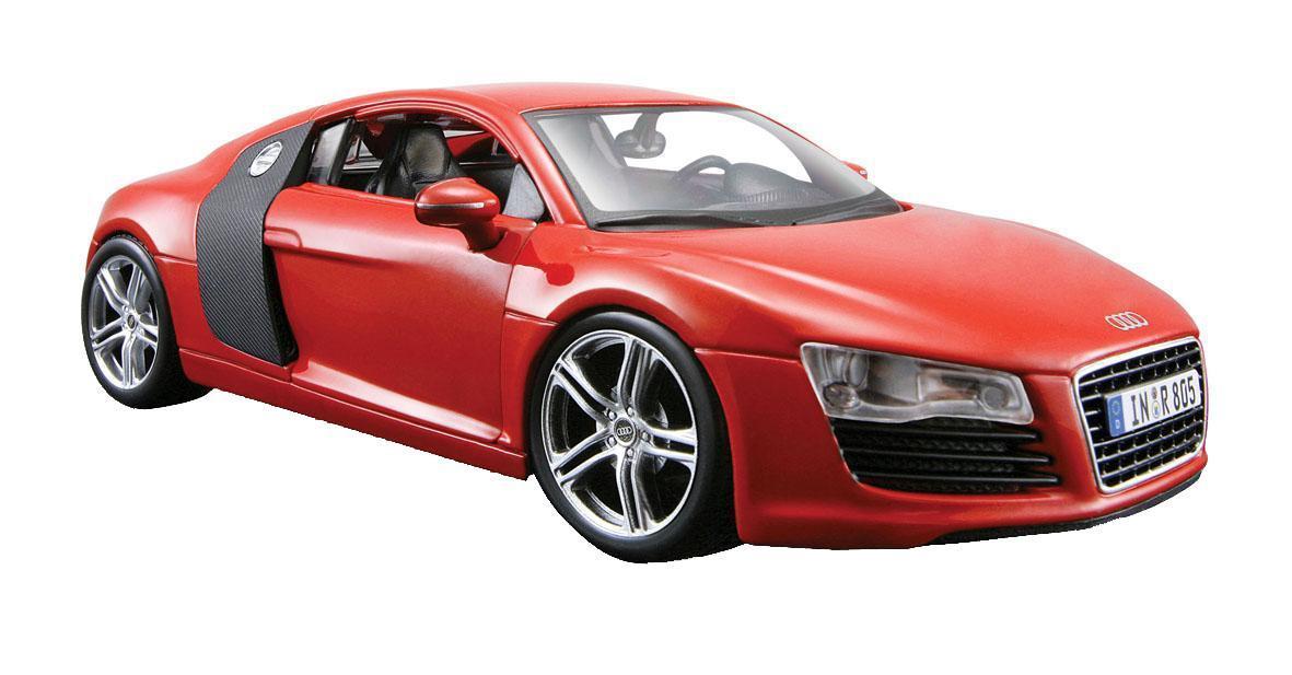Maisto Радиоуправляемая модель Audi R8 V10 цвет красный масштаб 1:1081045 R/CРадиоуправляемая модель Audi R8 V10 является точной уменьшенной копией настоящего автомобиля. Модель привлечет внимание не только ребенка, но и взрослого. Машинка при помощи пульта управления движется вперед, дает задний ход, поворачивает влево и вправо, останавливается. С помощью пульта управления также можно контролировать свет передних фар (выключение, ближний свет, дальний свет). Машина развивает хорошую скорость и обладает высокой стабильностью движения, что позволяет полностью контролировать процесс, управляя уверенно и без суеты. Пульт управления имеет три частоты, что позволяет одновременно управлять 2-3 моделями. Такая модель станет отличным подарком не только любителю автомобилей, но и человеку, ценящему оригинальность и изысканность, а качество исполнения представит такой подарок в самом лучшем свете.